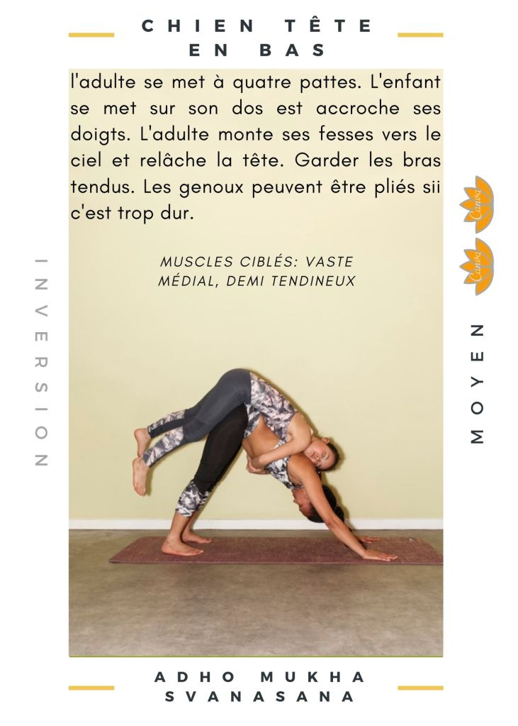 Un exemple de postures Yoga Parent Enfant
